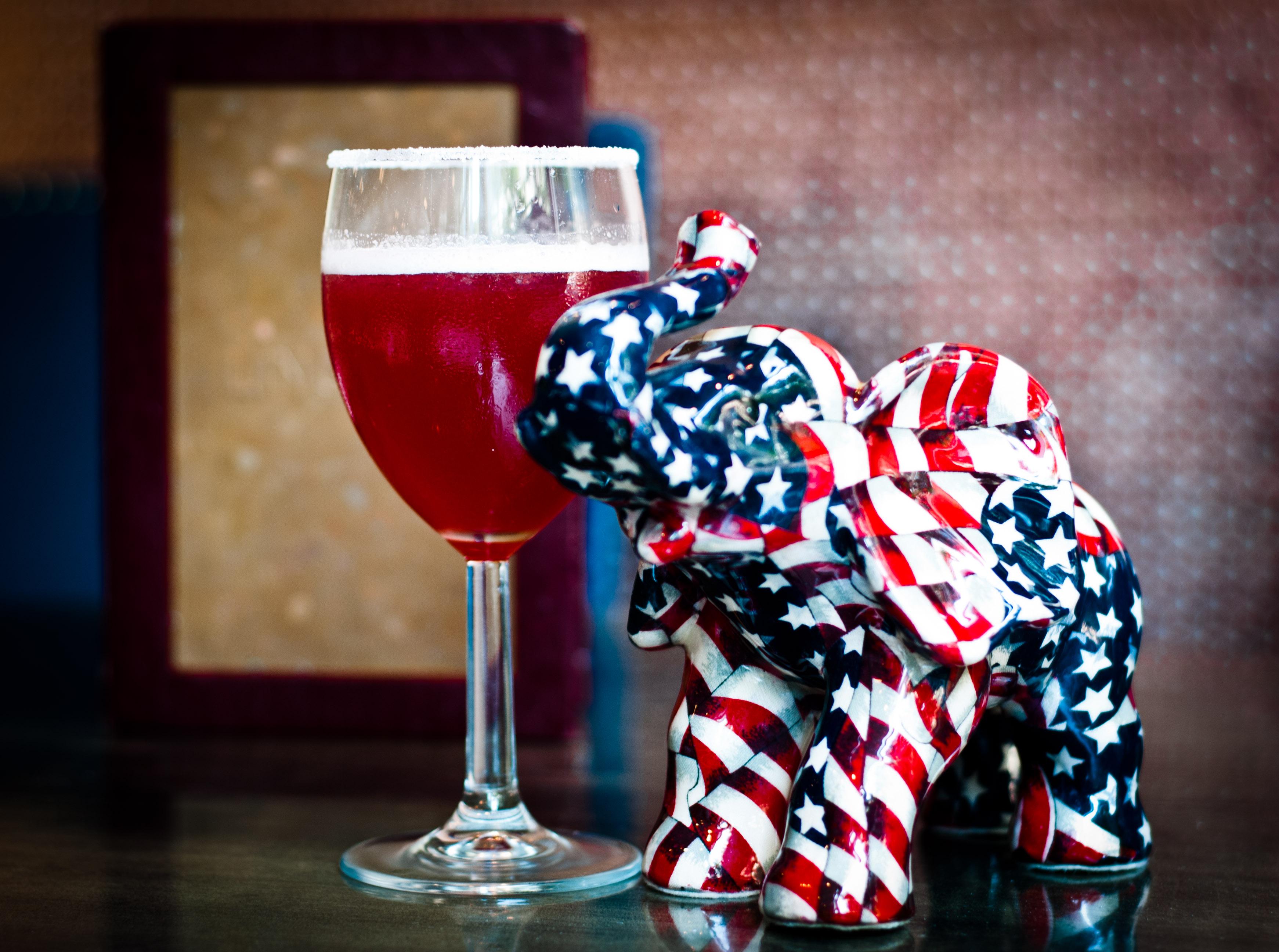 The Elephant: Rhubarb infused whiskey, home made strawberry liquor ...