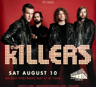the killers play merriweather post pavilion this august 2013 DC