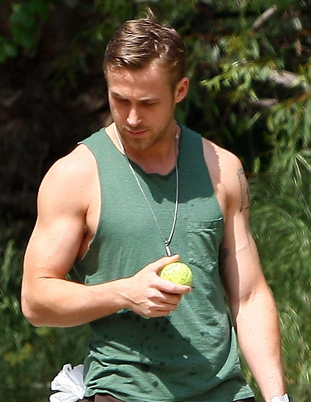 EXCLUSIVE: Ryan Gosling goes hiking with his dog in Los Angeles today