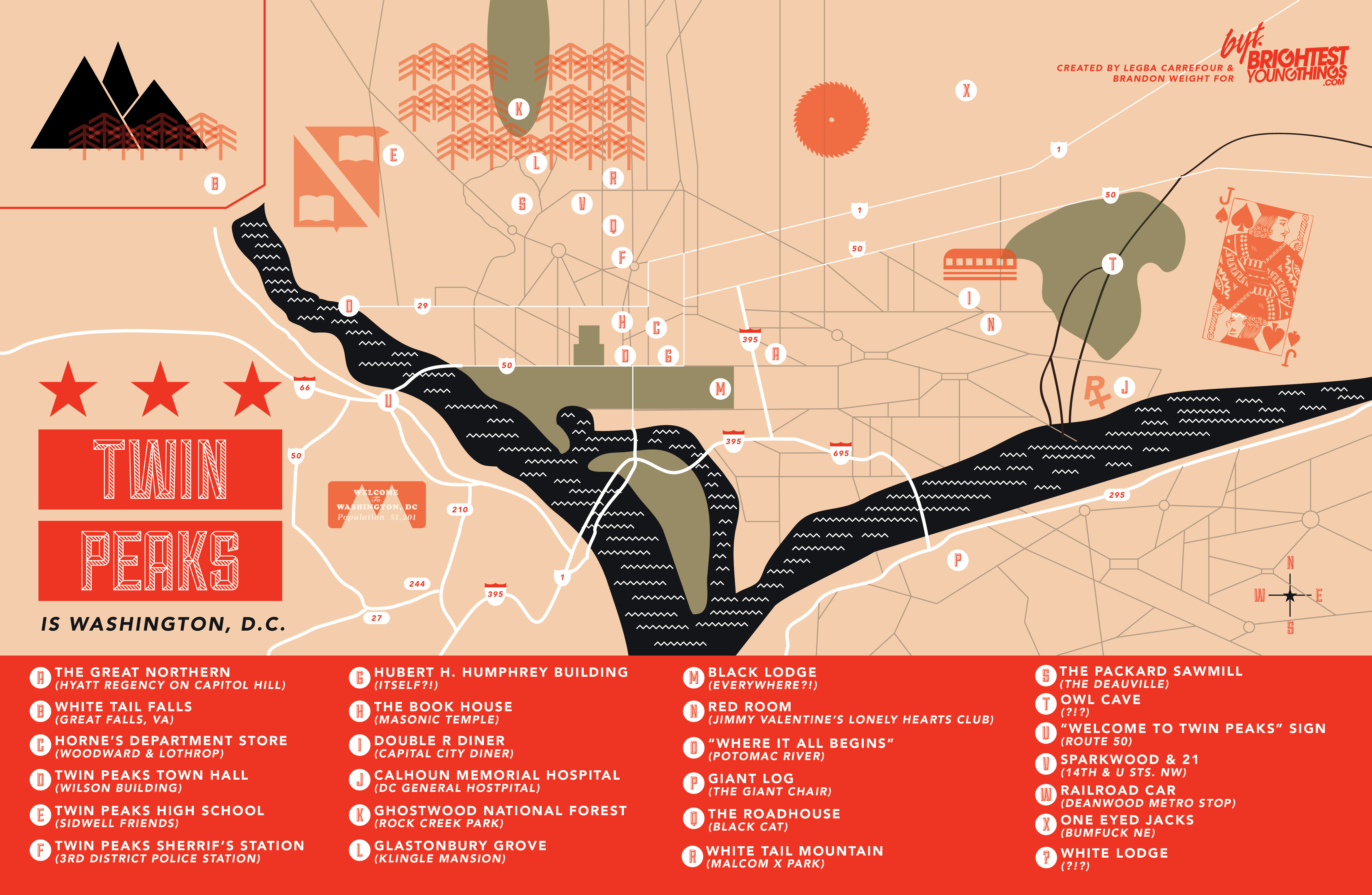 DC As Twin Peaks BrightestYoungThings DC - Washington dc pop up map