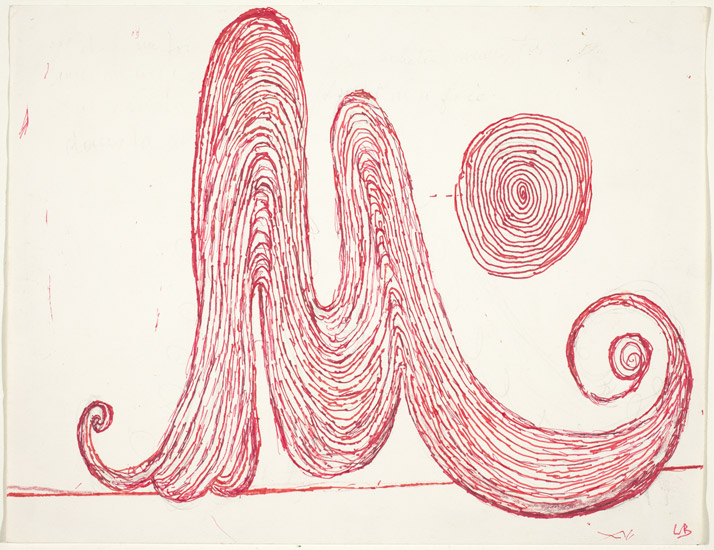 Louise Bourgeois, M is for Mother, 1998, pen and ink with colored pencil and graphite, National Gallery of Art, Washington, Gift of Dian Woodner, 2008. © The Easton Foundation / Licensed by VAGA, NY